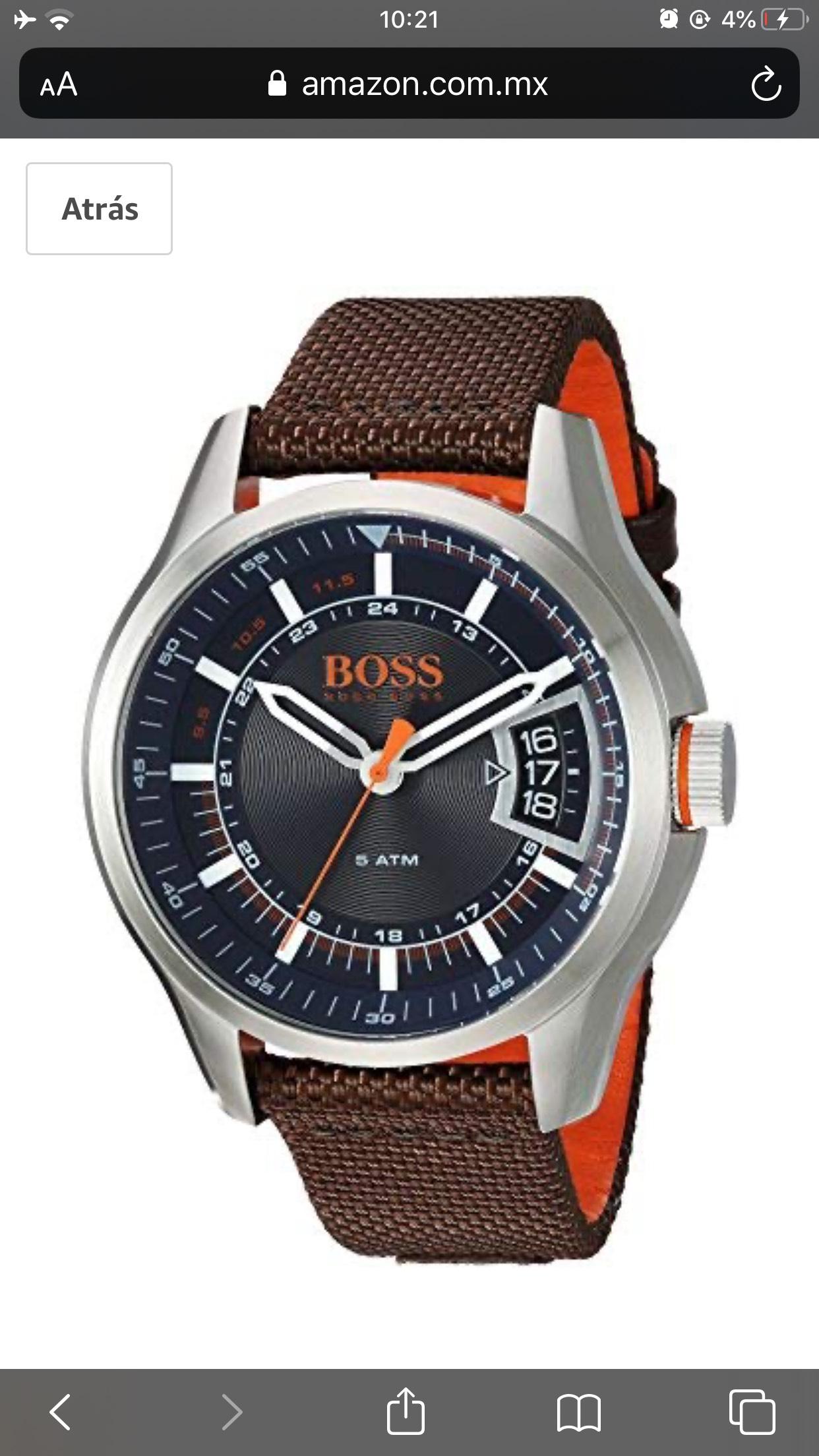 Amazon: Reloj Hugo Boss en sus precios más bajos según keepa