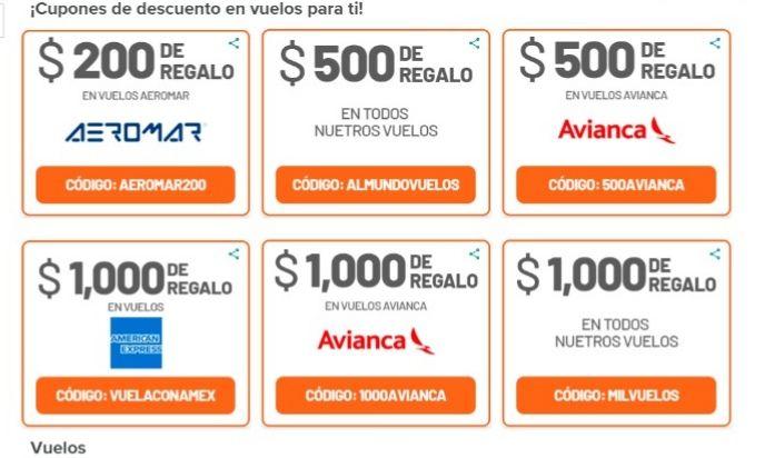 Cupones de descuento en vuelos con almundo.com