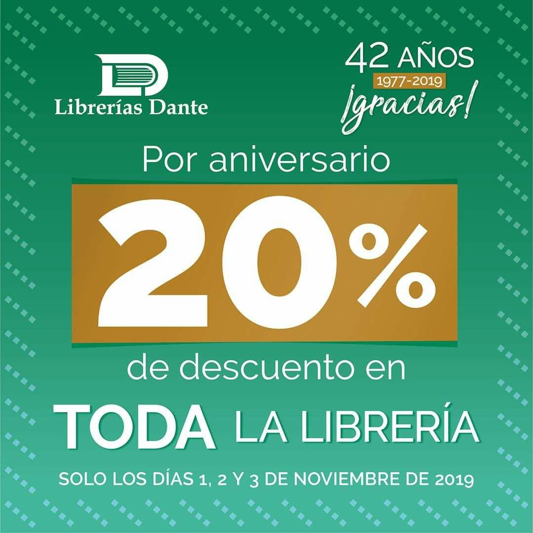 Librerías Dante: -20% en toda la tienda