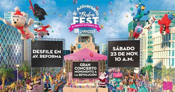 Liverpool: BOLO FEST + CONCIERTO GRATIS CDMX | CNCO, PISO 21, KAROL SEVILLA Y MANE DE LA PARRA | ¿Que avenidas estarán cerradas?