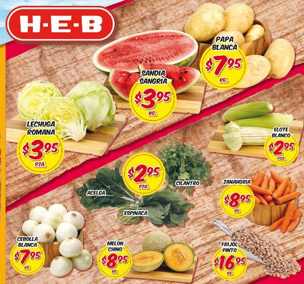 Frutas y verduras HEB del 14 al 16 de mayo: sandía $3.95 y más