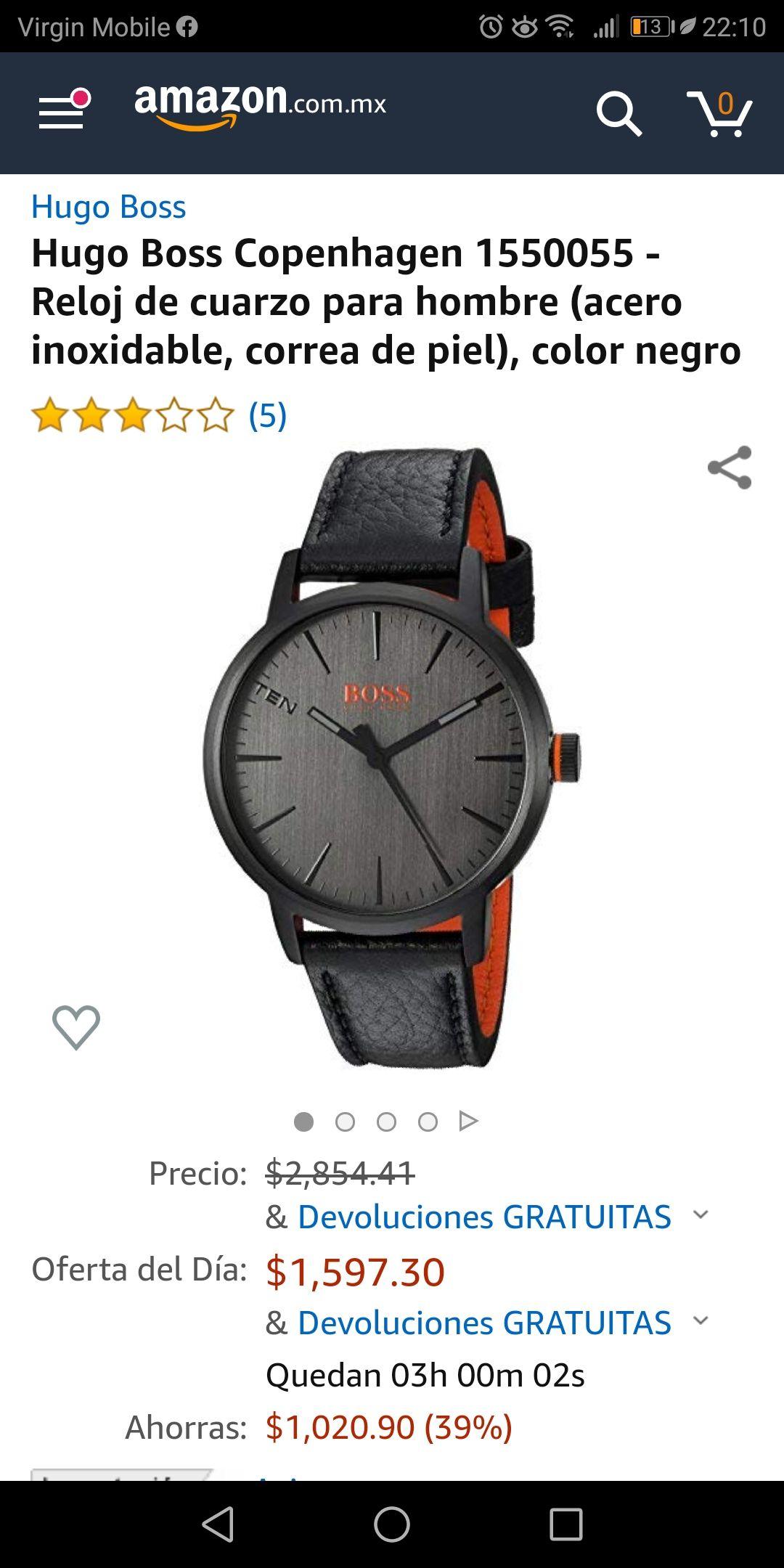 Amazon: Reloj Hugo Boss