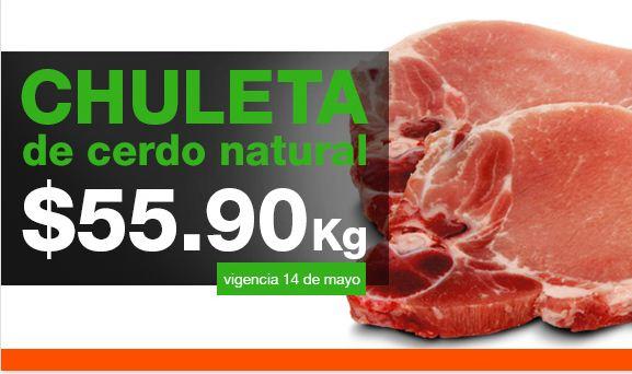 Martes de carnes en La Comer mayo 14: chuleta $56 y más