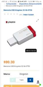 Chedraui: Kingston 32gb USB 3.1 3.0 2.1