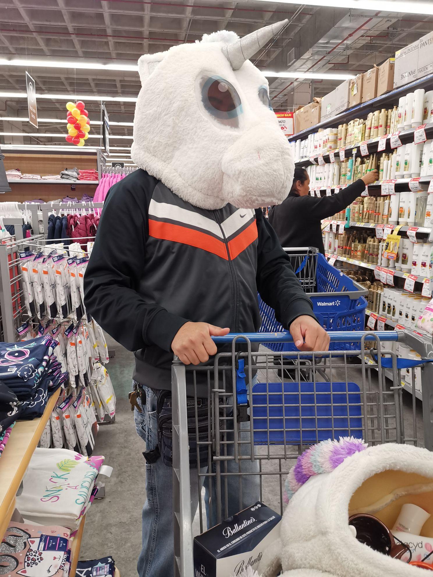 Walmart cabeza de unicornio y otras cosas