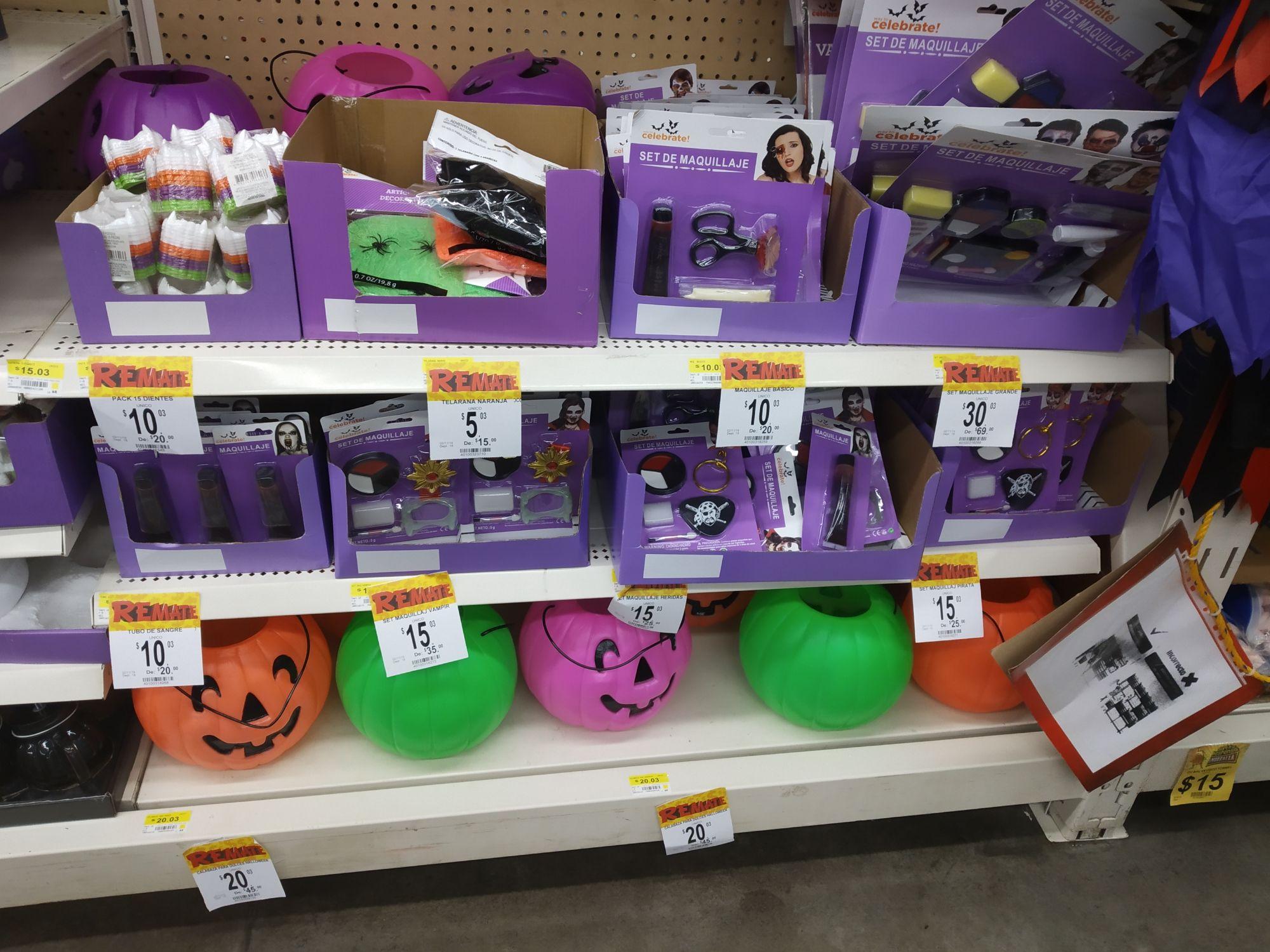Bodega Aurrera: Artículos de Halloween en liquidación