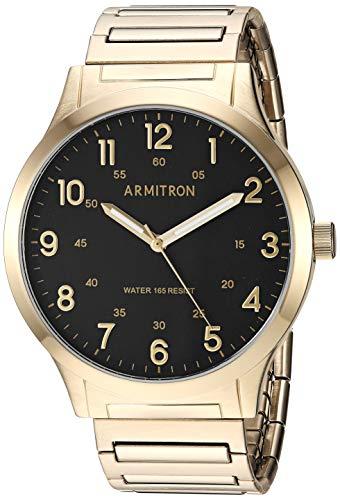Amazon: Reloj Armitron Dorado 20/5310BKGP