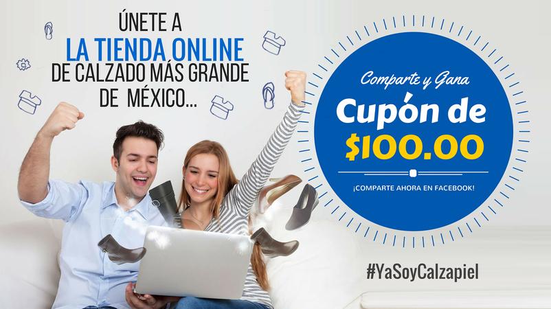 CalzaPiel: nuevo sitio para compra de calzado en línea regala cupón de $100.00