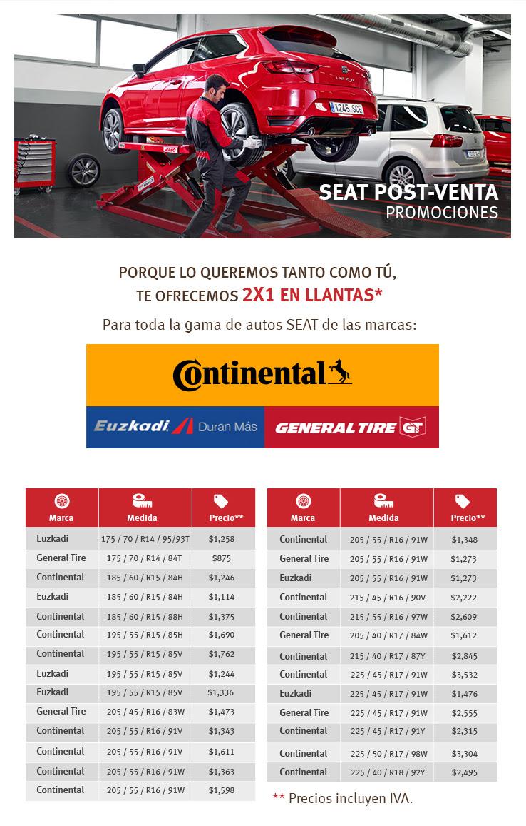 SEAT: Llantas al 2x1 para autos SEAT