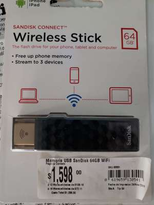 Office Max: Memoria USB Wireless Stick 64 GB en Liquidacion