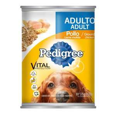 Walmart Online: Latas Pedigree 375 gr 3x49 cachorro y adulto, Raza mediana