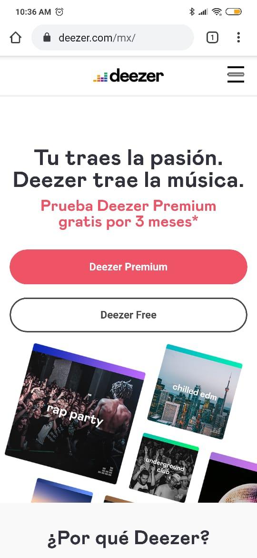 Deezer nuevos usuarios 3 meses gratis