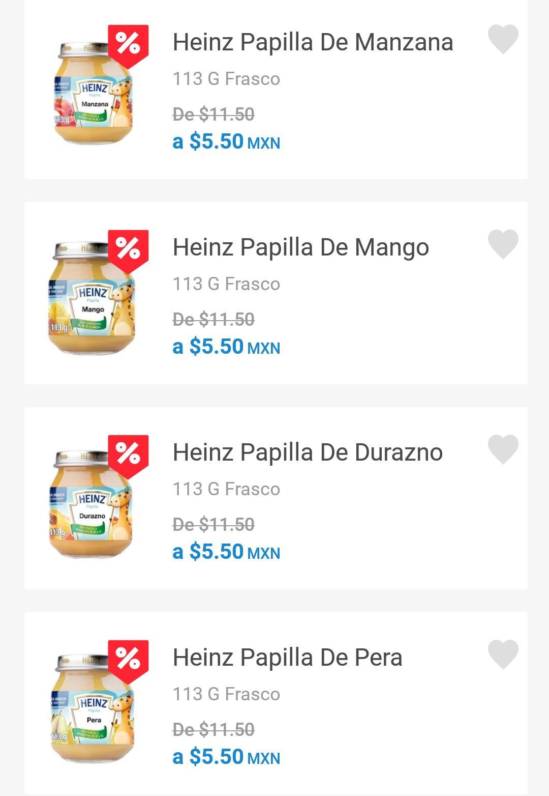 Farmacia San Pablo: Papilla heinz varios sabores