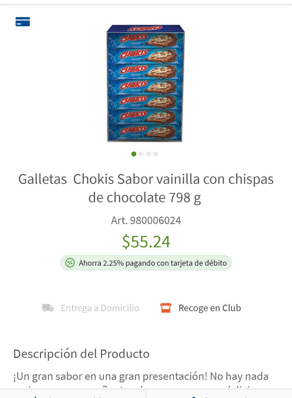 Sam's Club: Galletas Chokis Caja 14 paquetes a $55.24 ($3.94 x paquete)