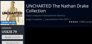 PSN: UNCHARTED The Nathan Drake Collection $ 28.79 dólares