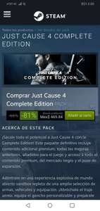 Steam: Just Cause 4 reloaded o complete Edition $469.84