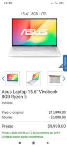 "Costco: Asus Laptop 15.6"" Vivobook 8GB Ryzen 5 3500u"