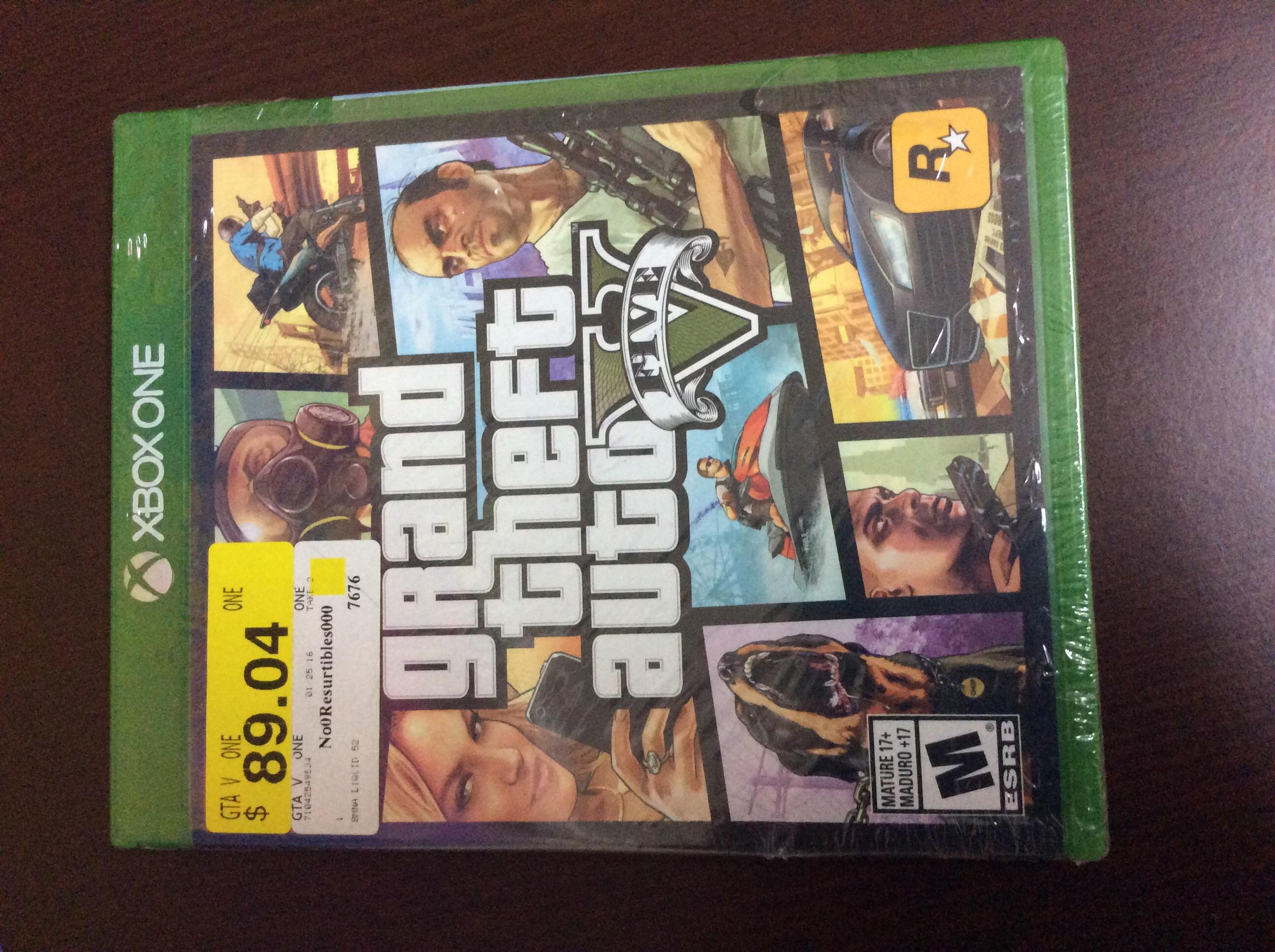 Bodega Aurrerá: GTA V para Xbox One a $89.04