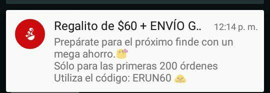 SinDelantal: 60 pesos de descuento mas envió gratis.