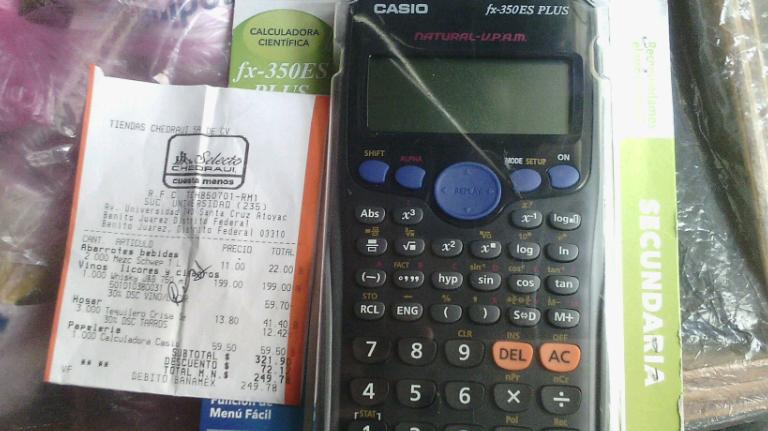 Chedraui Universidad: Calculadora Cientifica Casio FX-350ES a $59.50