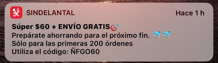 Sin Delantal: $60 de descuento + envío gratis
