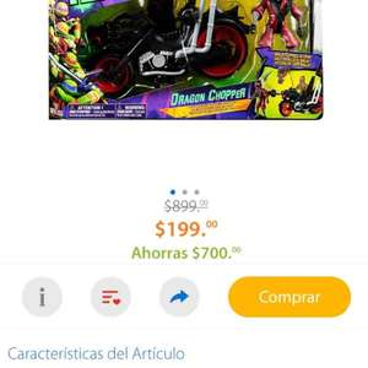 Walmart Online: Dragon Bike Teenage Mutant Ninja Turtles Spin Master de $899 a $199