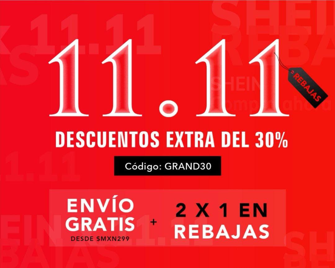Shein: Descuento del 30%, 2 x 1 en rebajas y envío gratis a partir de 299