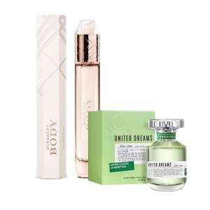 Walmart en línea: Perfume Burberry Body Dama Eau de Parfum 85 ml + United Dreams Green Live Free de regalo