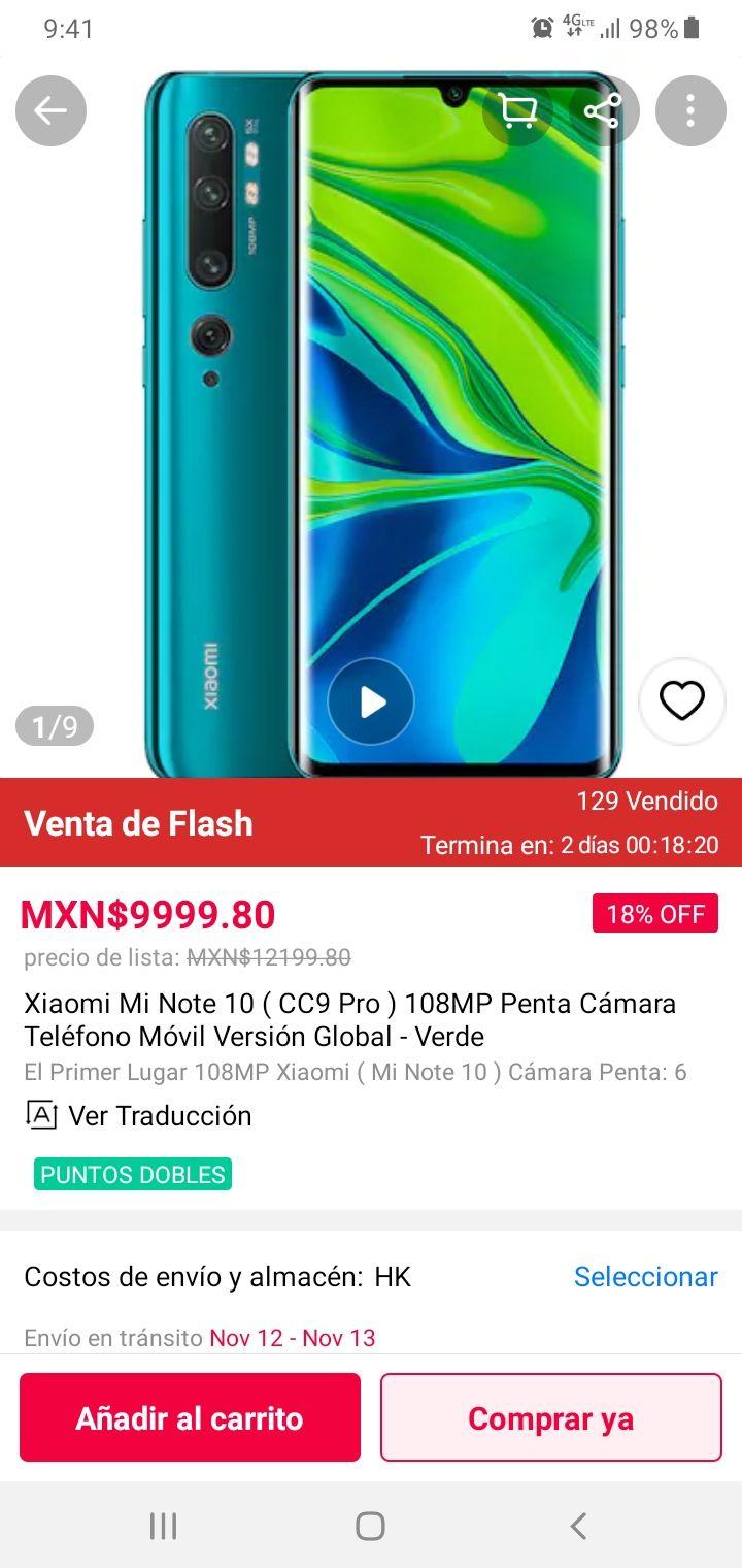 Gearbest: Xiaomi Mi Note 10/CC9 Pro 108mpx