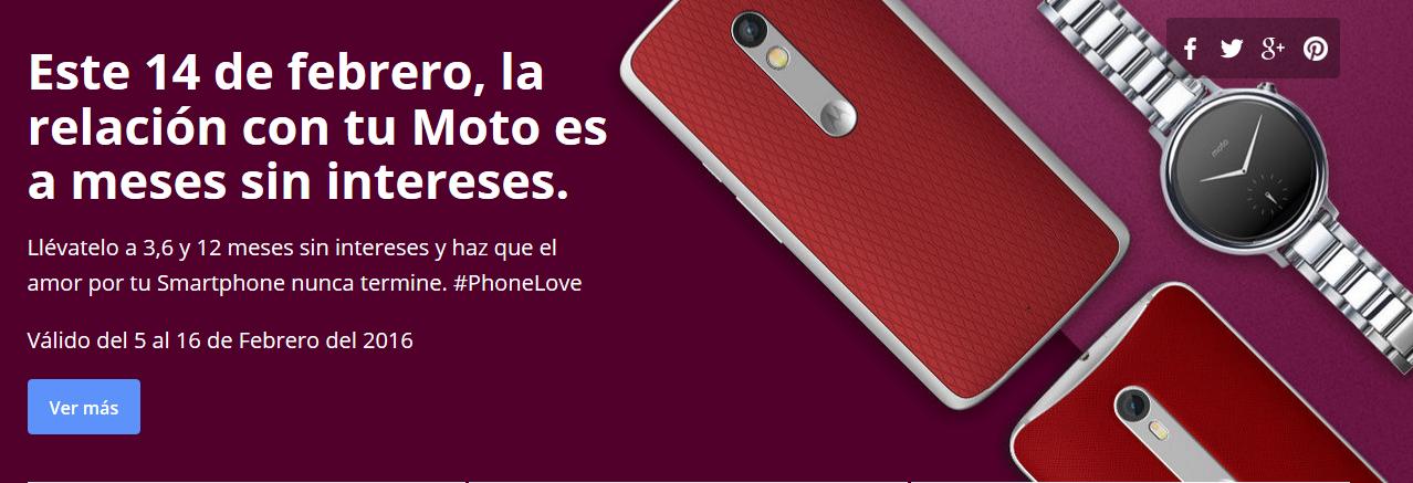 Motorola Tienda en Línea: Meses sin intereses del 5 al 16 de Febrero