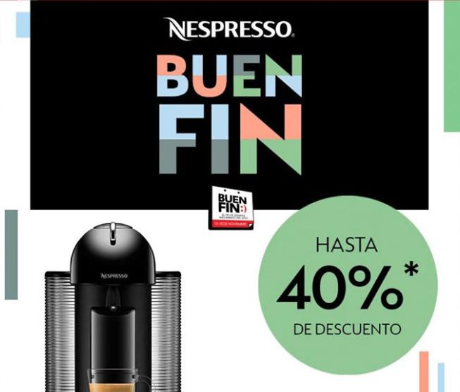 Oferta del Buen Fin 2019 en Nespresso