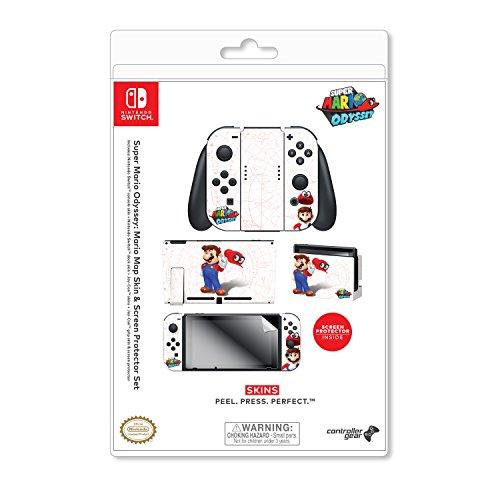Amazon: Skin para consola y controles Switch + protector de pantalla de super Mario Odyssey