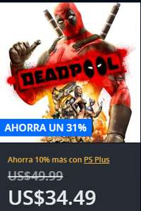 PlayStation Store: Oferta Deadpool para PS4 y PS3 y algo más*