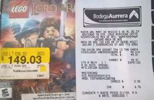 Bodega Aurrerá: Chimalhuacan Edomex: Juego LEGO Lord of the Rings para Nintendo 3DS a $49.01