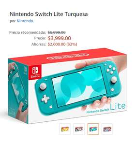 Amazon: Nintendo Switch Lite (los 3 colores disponibles) Precio mas bajo amazon