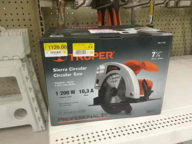 Walmart Boca del Río: sierra circular Truper 1200W a $1,129