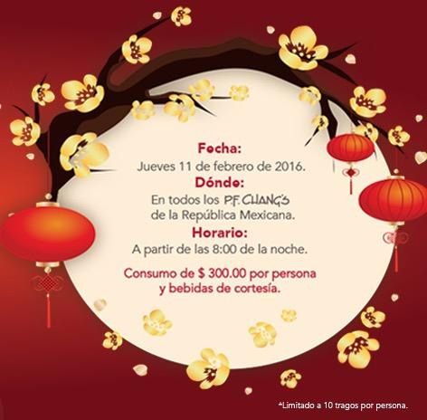 P.F. CHANG'S Celebración de año nuevo Chino.