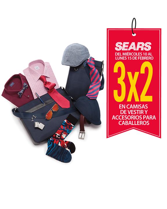 Sears: 3x2 en camisas de vestir y accesorios para hombre