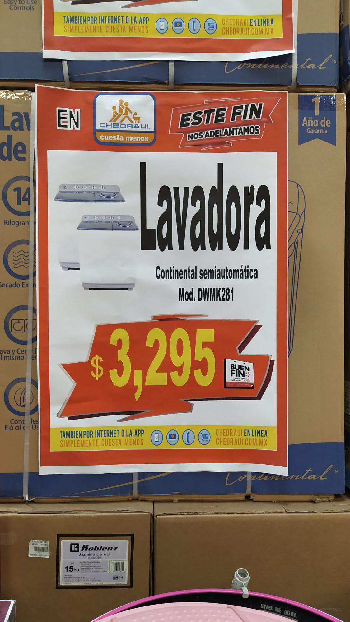 Chedraui Xalapa: Lavadora semi automática 14 kg