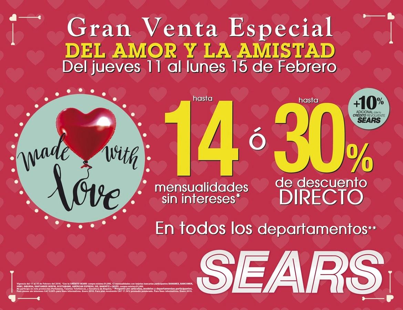 Sears: Hasta 30% de descuento directo en TODOS los departamentos.