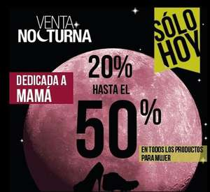 Venta Nocturna Gaudena: todo lo de mujer del 20 al 50% de descuento