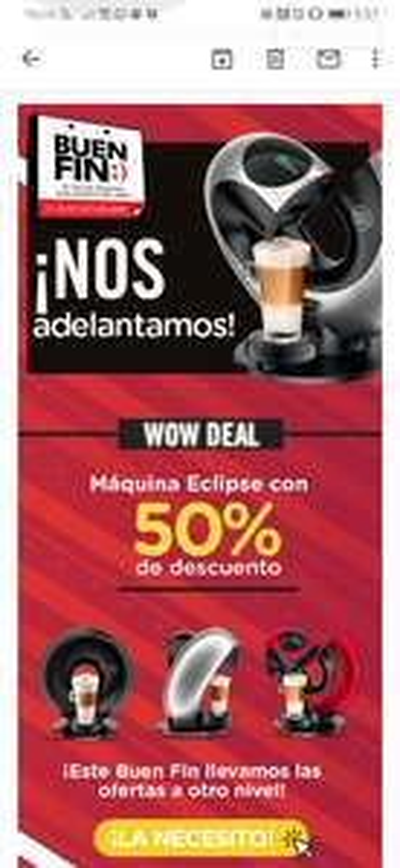 Dolce Gusto 50% Descuento en maquina eclipse