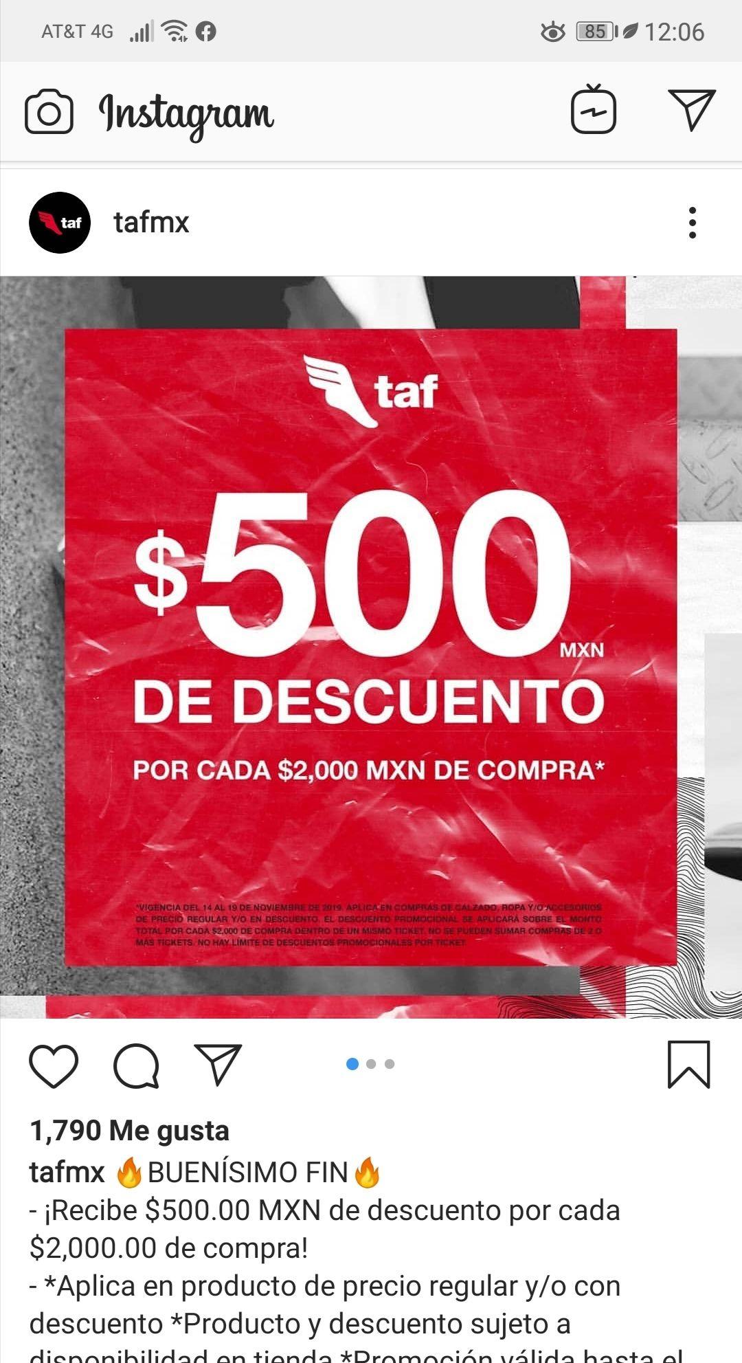 TAF: 500 de descuento por cada 2000 de compra
