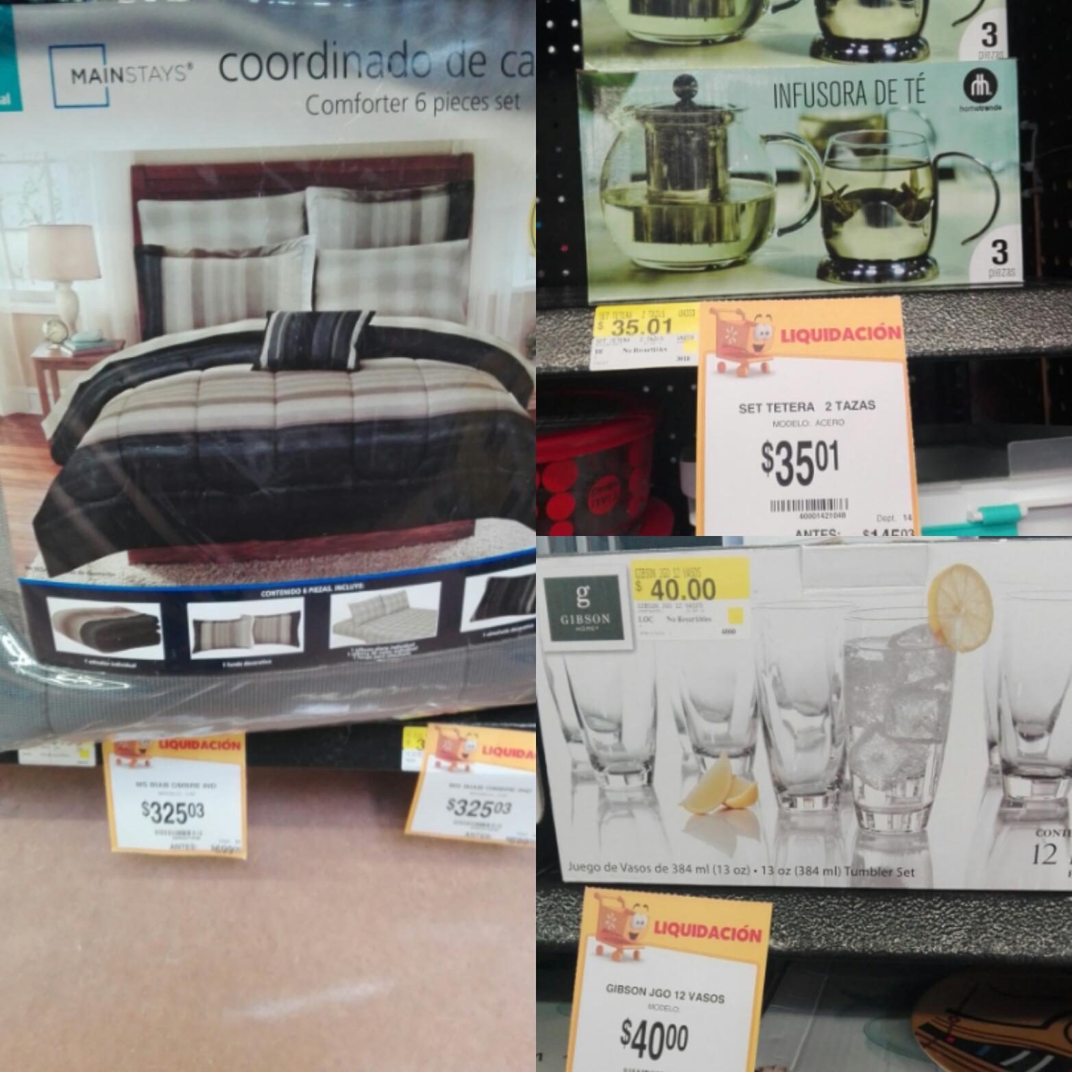 Walmart Oriente Tuxtla Gutierrez: juego de té $35 y más...