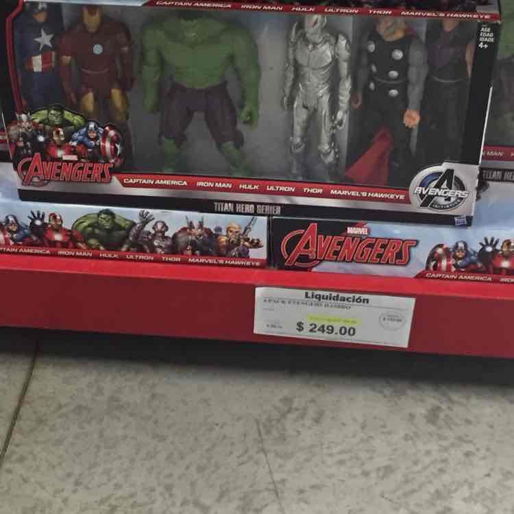 Sam's Club Patio Santa Fé: liquidación de paquete de 6 muñecos Avengers