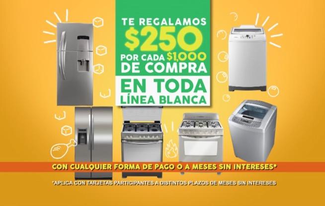 Comercial Mexicana: $250 de descuento por cada $1,000 de compra en línea blanca