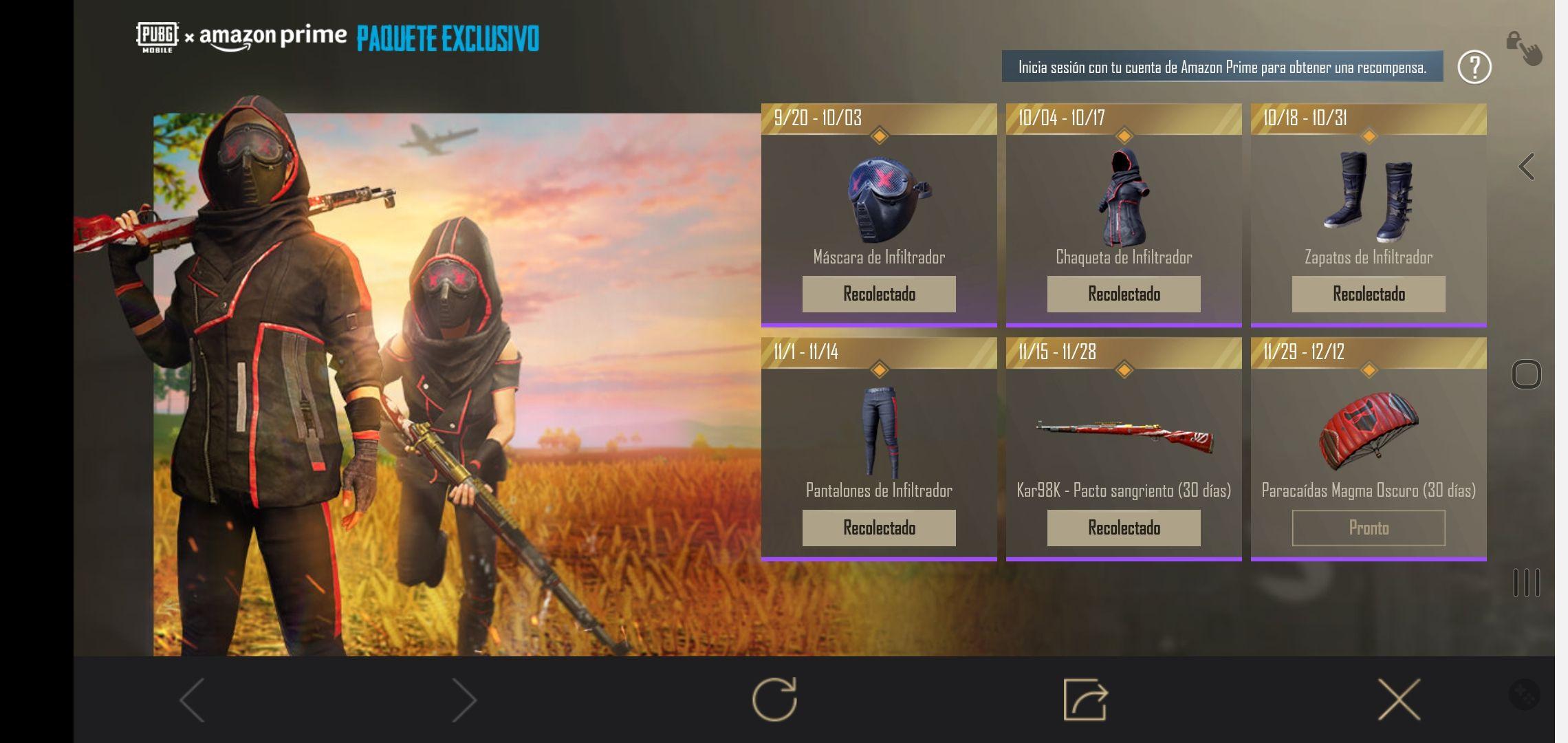PUBG MOBILE: Arma Kar98 - Pacto Sangriento Gratis Amazon Prime