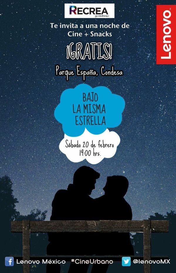 (DF) Cine + Palomitas + Bebidas + Hot Dogs gratis en Parque España el 20/Feb