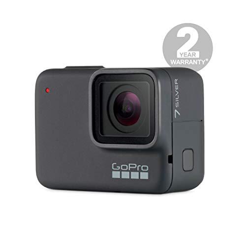 Amazon: GoPro HERO7 Silver - Cámara de acción digital sumergible con pantalla táctil, vídeo 4K HD y fotos de 10 MP