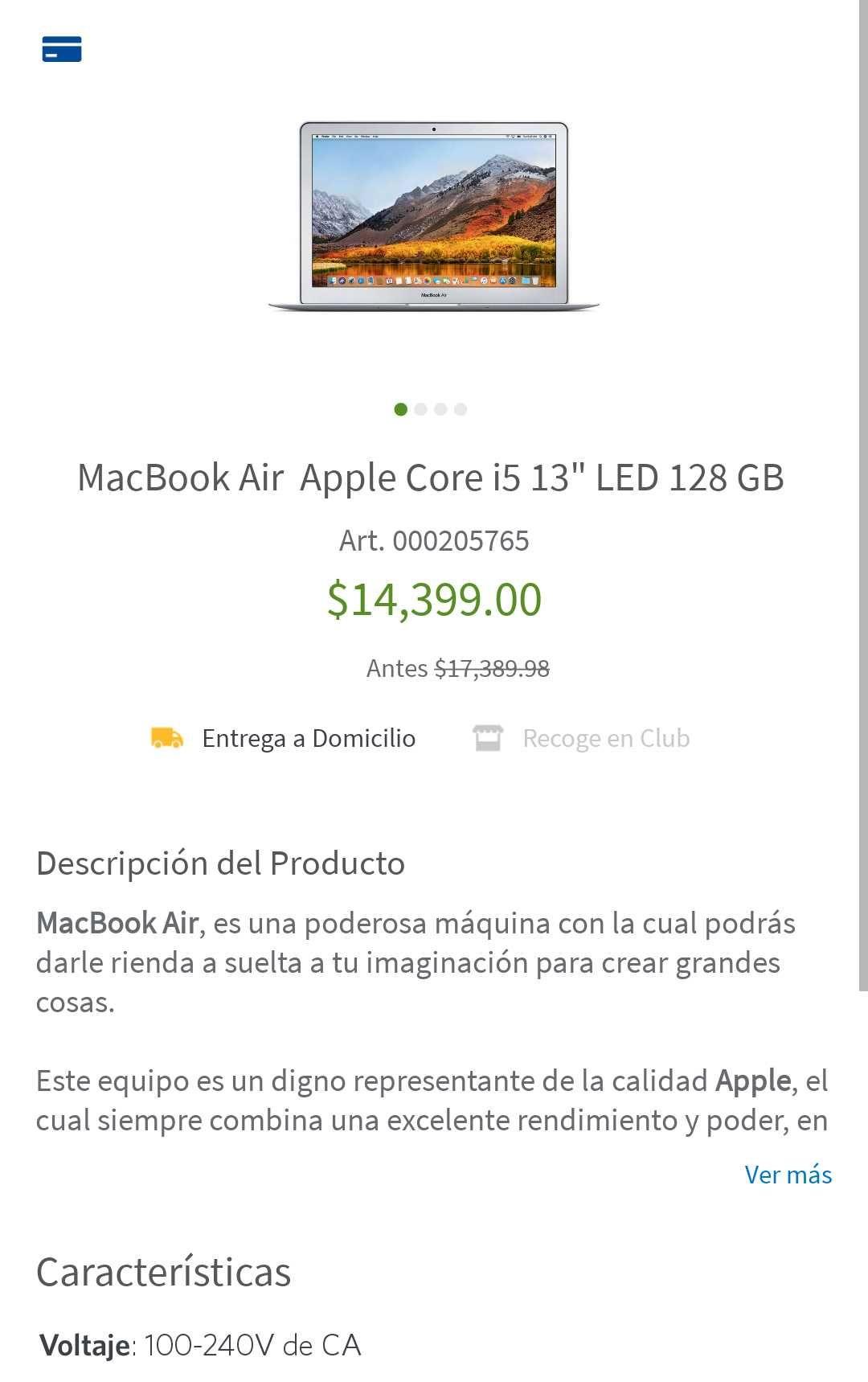 Sam's Club: MacBook air 13